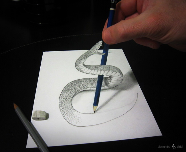 Clever 3d Illusion Drawings By Alessandro Diddi