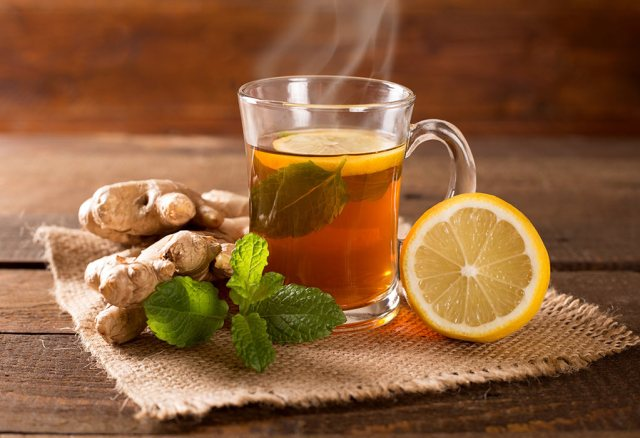 Ginger and Lemon tea for weight loss   top2homeremedies.com