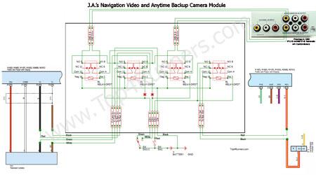 2004 toyota 4runner trailer wiring diagram passtime video on nav and anytime backup camera mods