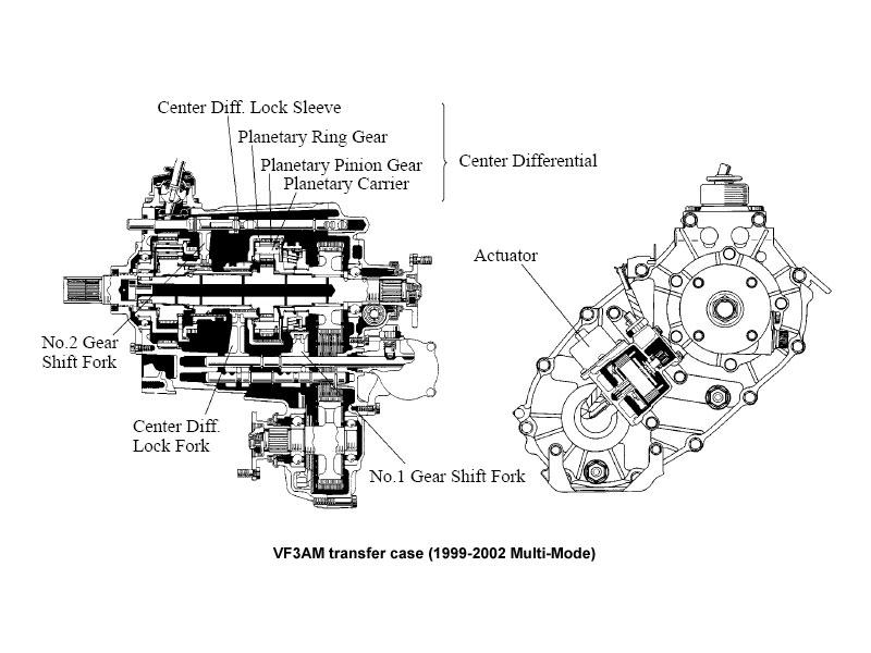 Toyota transfer case diagram