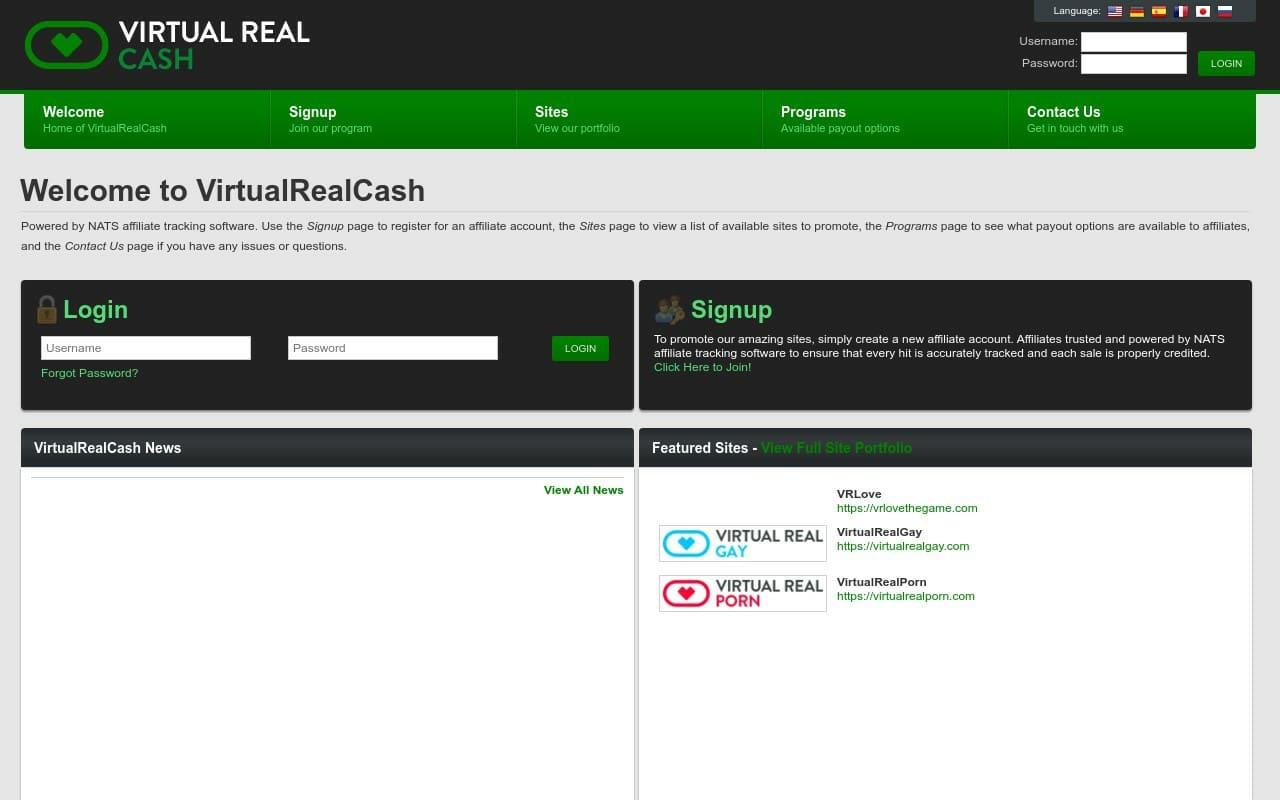 Virtual Real Cash - top Porn Affiliate Network List
