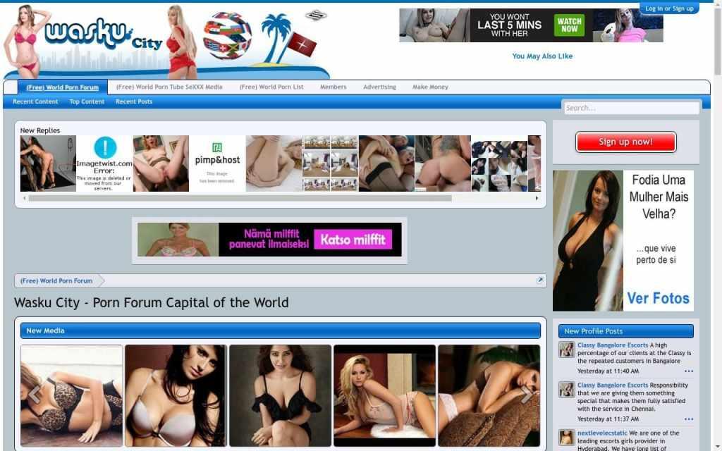 Waskucity - top Porn Forum Sites List