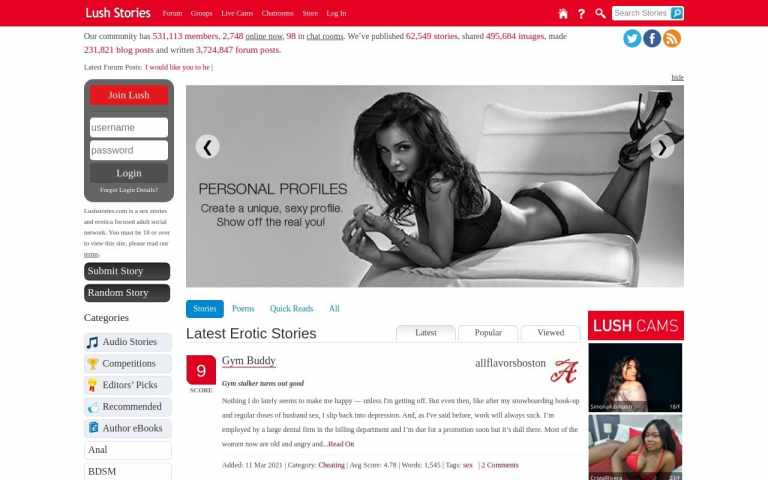 Lushstories - top Sex Stories Sites List