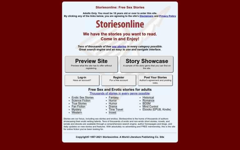 Storiesonline - top Sex Stories Sites List