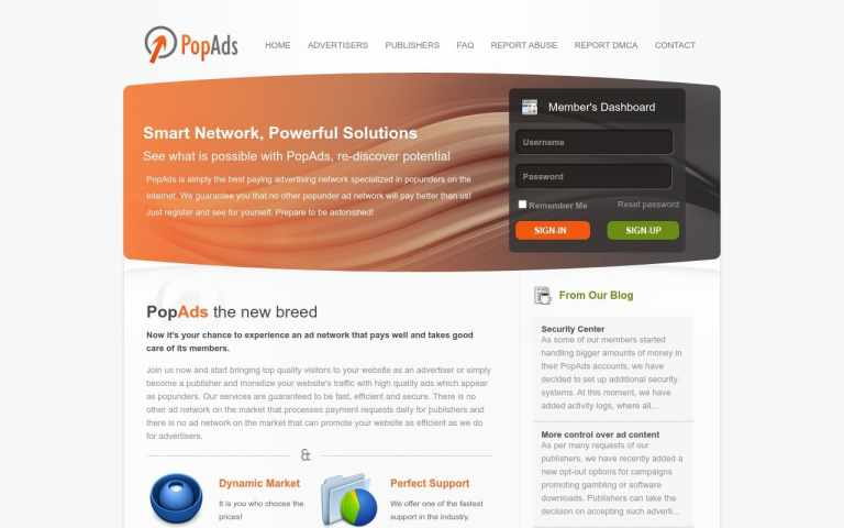 Popads - top Adult AD Networks List