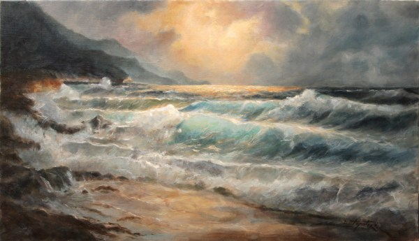 Sea Waves Oil Painting Artists