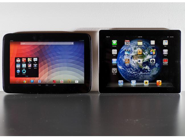 Nexus 10 e iPad