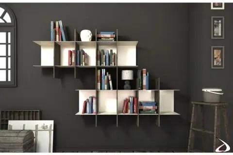 libreria a parete sospesa moderna. Spread Suspended Metal Bookcase Toparredi