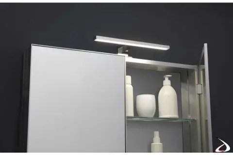 Lampada a parete a led lineare e funzionale, l. Bathroom Mirror With Mizar Lamp Toparredi