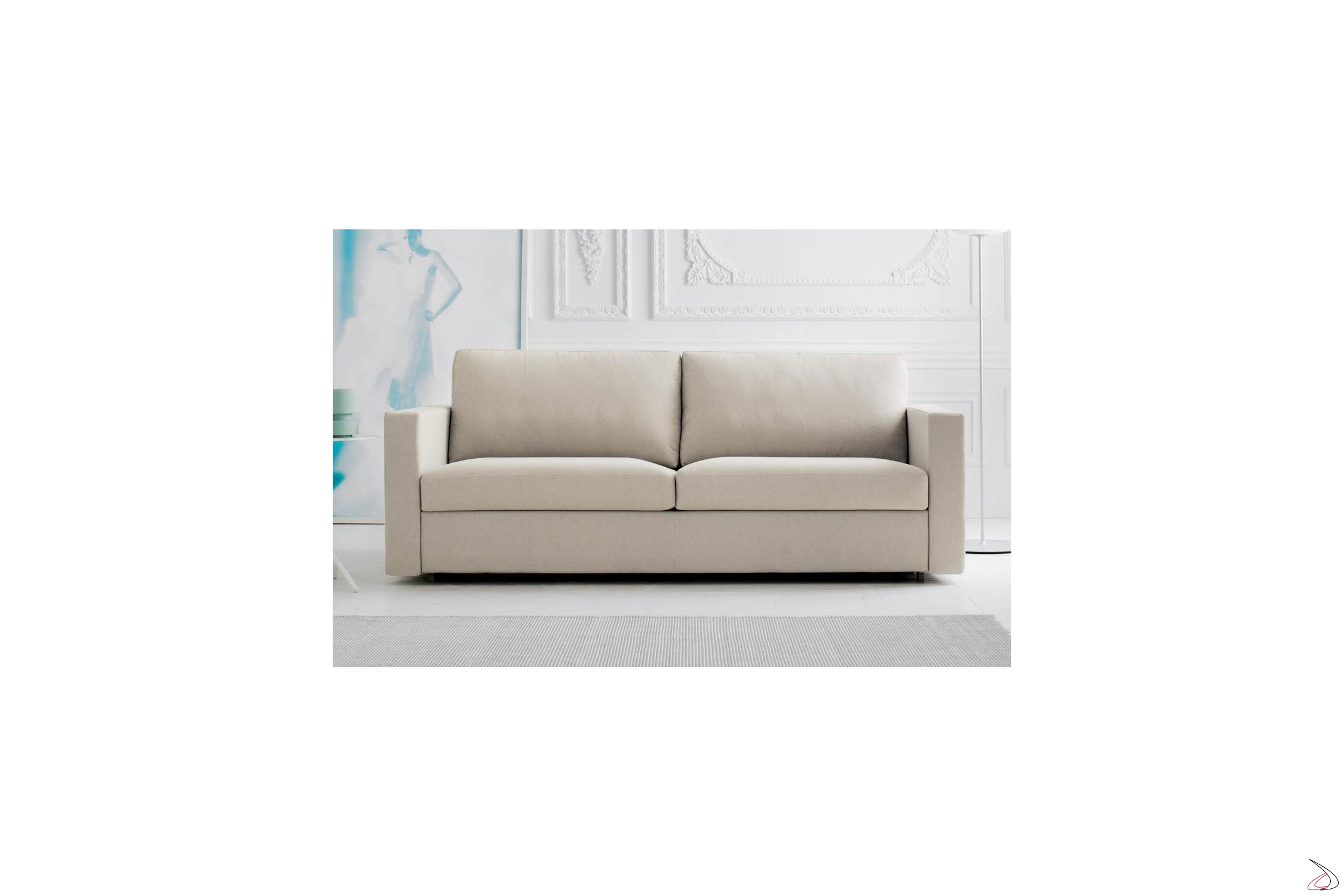 Convertible King Size Sofa Bed Sort Toparredi