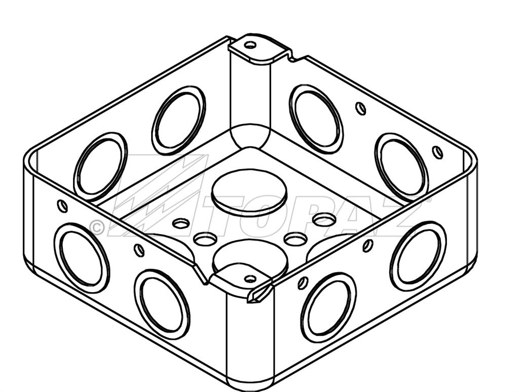 4 Square Drawn Boxes Steel 1 1 2 Deep 1 2 Amp 3 4