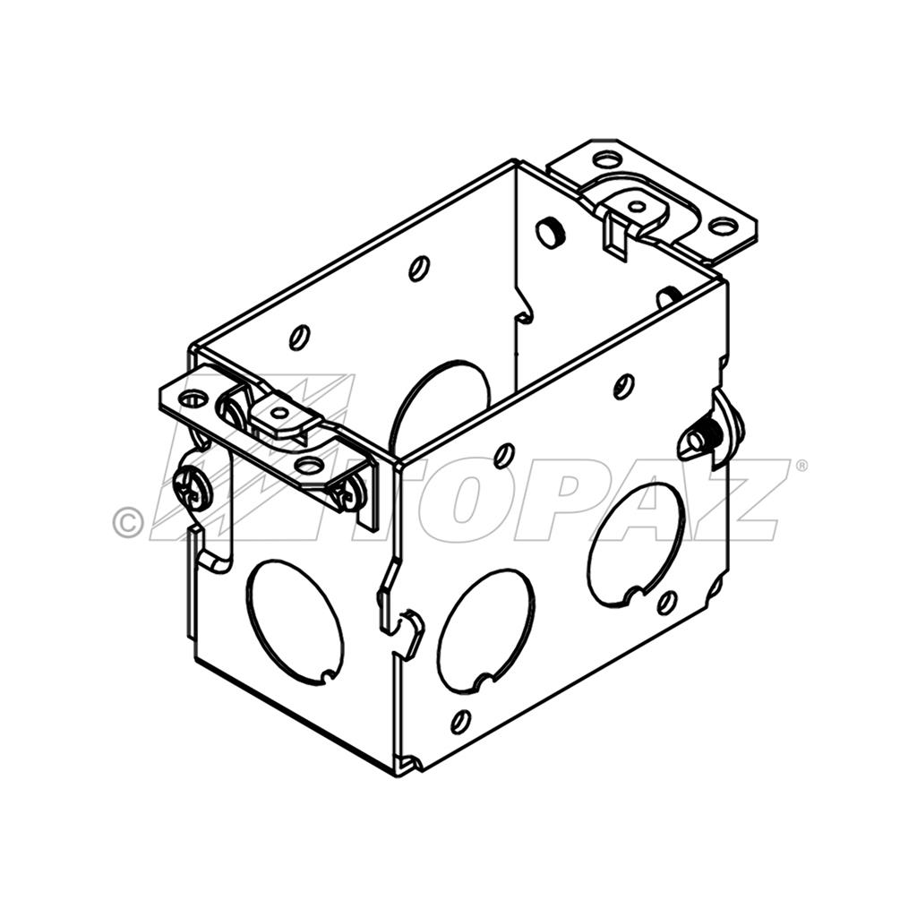 3 X2 Gangable Switch Boxes 2 1 2 Deep 1 2 Ko