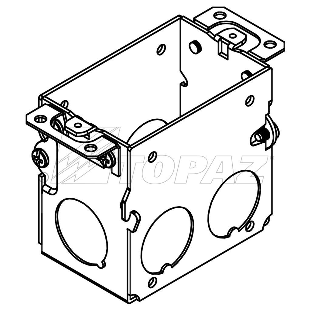 3 X2 Gangable Switch Boxes 2 3 4 Deep 1 2 Amp 3 4 Ko