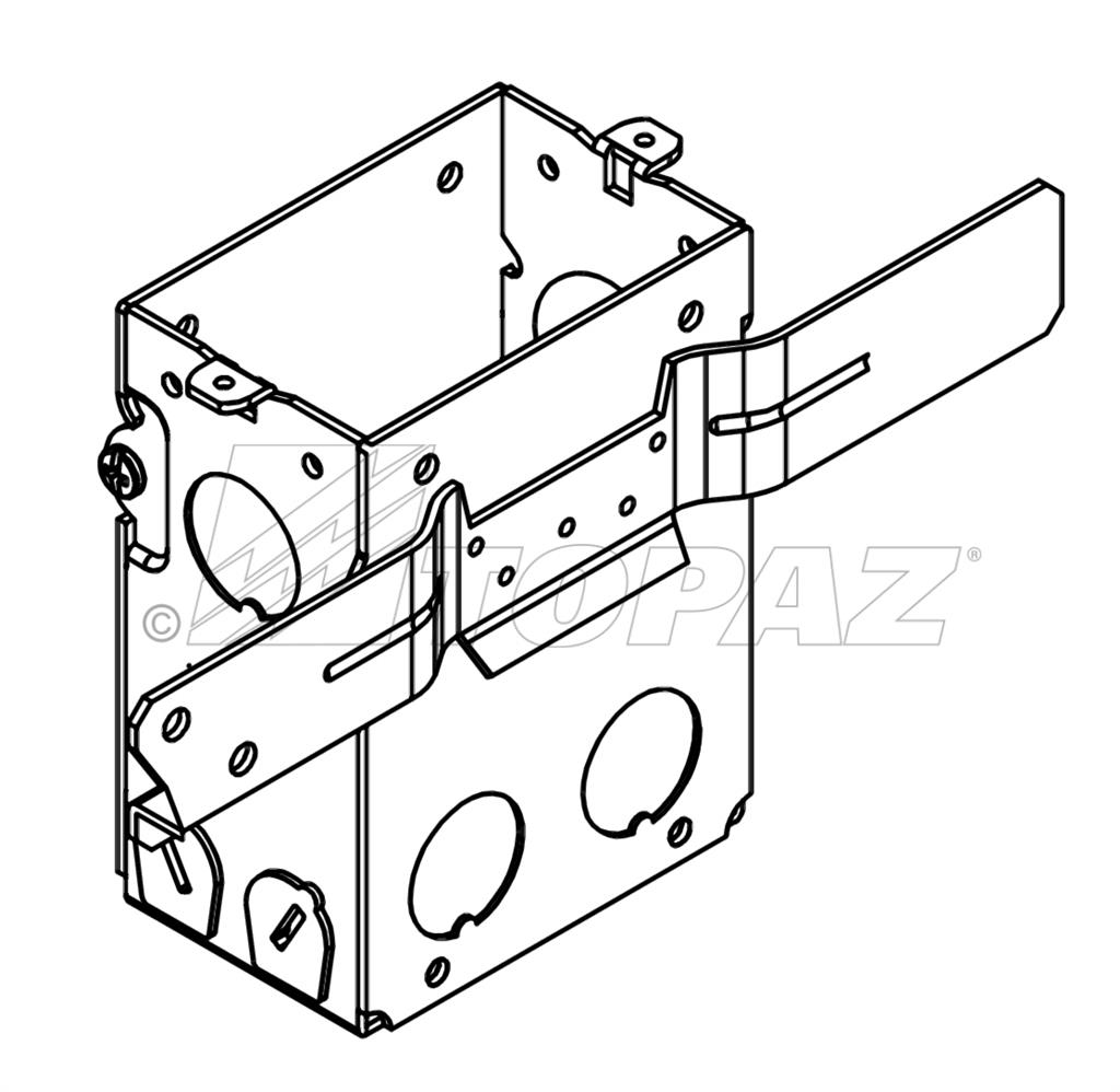 3 X 2 Gangable Switch Boxes 3 1 2 Deep With Mc Clamps