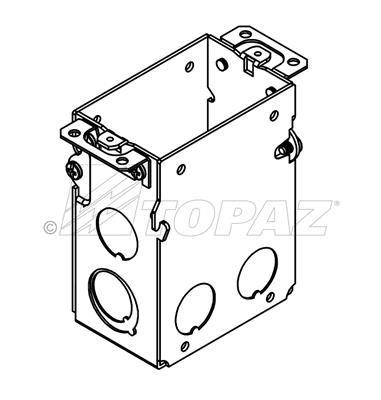 "3"" X 2"" GANGABLE SWITCH BOXES SBG591 SBG605SBG600 SBG601"