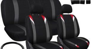 1. Oxgord 17pc Set Flat Cloth Mesh Car Seat Covers