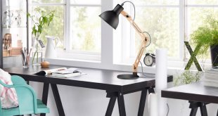 1. Tomons Scandinavian Swing Arm Wood Desk Table Lamp