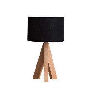 10. Irealise Desk Lamp Modern Tripod Wood Table Lamp
