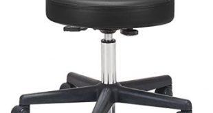 10) Earthlite Pneumatic Rolling Massage Stool (Black)