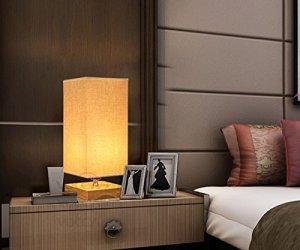 6. Surpas House Minimalist Solid Wood Table Lamp