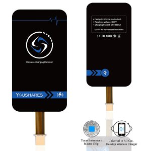 8. YOUSHARES iPhone Qi Wireless Charging Receiver for iPhone 7/7plus