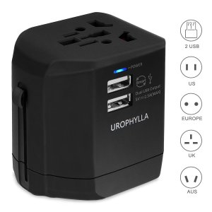 7. Travel Adapter, UROPHYLLA Universal Adapter Wall Charger