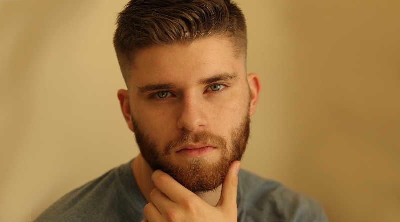 Porträtaufnahme Mann mit Bart