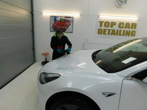Tesla Model 3 came in for a paint correction detail