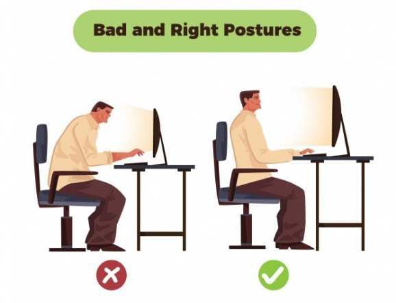 How to Sit Properly at a Desk