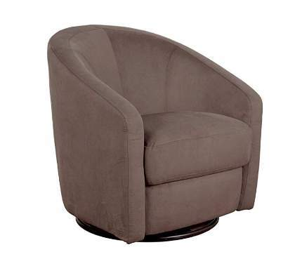 Babyletto Madison Swivel Glider, Slate Microsuede