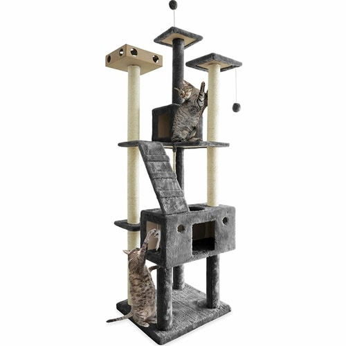 Best Cat Tree Under $100 - Furhaven Tiger Touch Cat Tree
