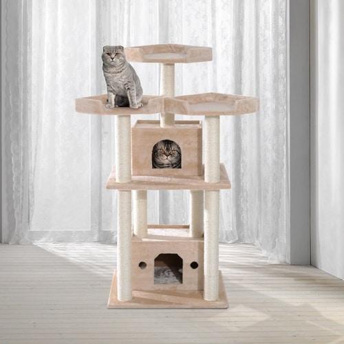 Best Cat Tree Under $100 - PawHut Multi-Level Sisal Scratcher Cat Tree