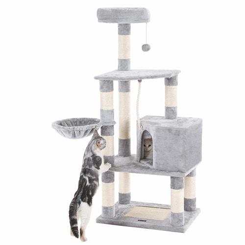 Best Cat Tree Under $100 - SONGMICS 58-Inch Cat Tree Condo Tower