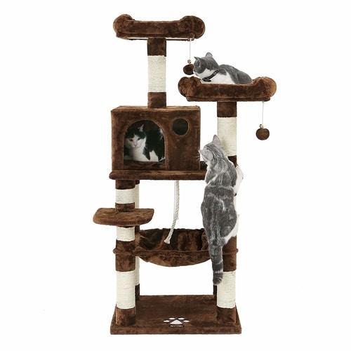 Best Cat Tree Under $100 - SONGMICS 58-Inch Cat Tree Condo - 2