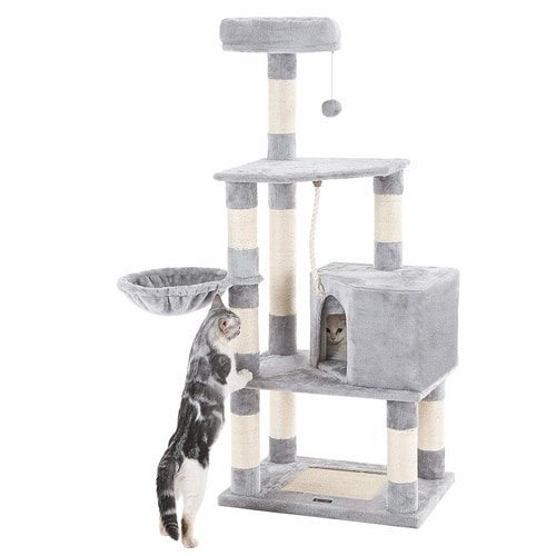 Best Cat Trees Smart Buyers Guide - Songmics 58-Inch Cat Tree Condo Tower