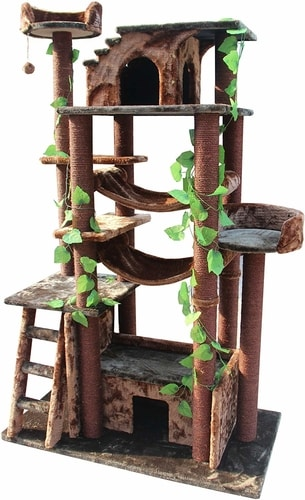 Best Cat Tree That Looks Like A Cat Tree - Kitty Mansions 78 Inch Cat Tree