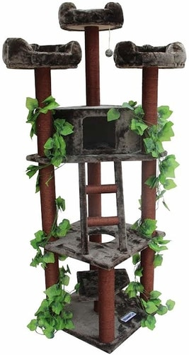 Best Cat Tree That Looks Like A Cat Tree - Kitty Mansions Redwood Cat Tree