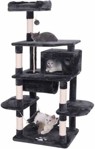 Best Cat Condo For Two Cats - BEWISHOME Cat Tree Condo Furniture