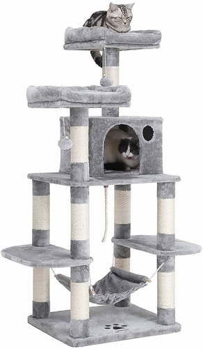 Best Cat Trees For Multiple Cats - SONGMICS Cat Tree Condo With Scratching Post