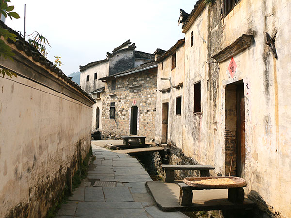 Xidi Village See Typical Huizhou Style Buildings Around