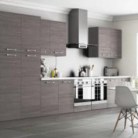 Woodgrain Brown-Grey Kitchen