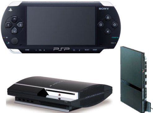 Sony psp ps2 ps3