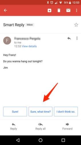 Smart Reply - Risposte intelligenti in Gmail