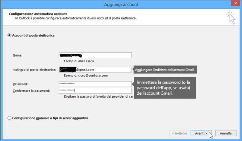 Configurazione Account