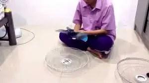 cleaning honeywell fan