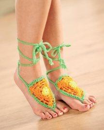 Barefoot Sandals Crochet Pattern Free