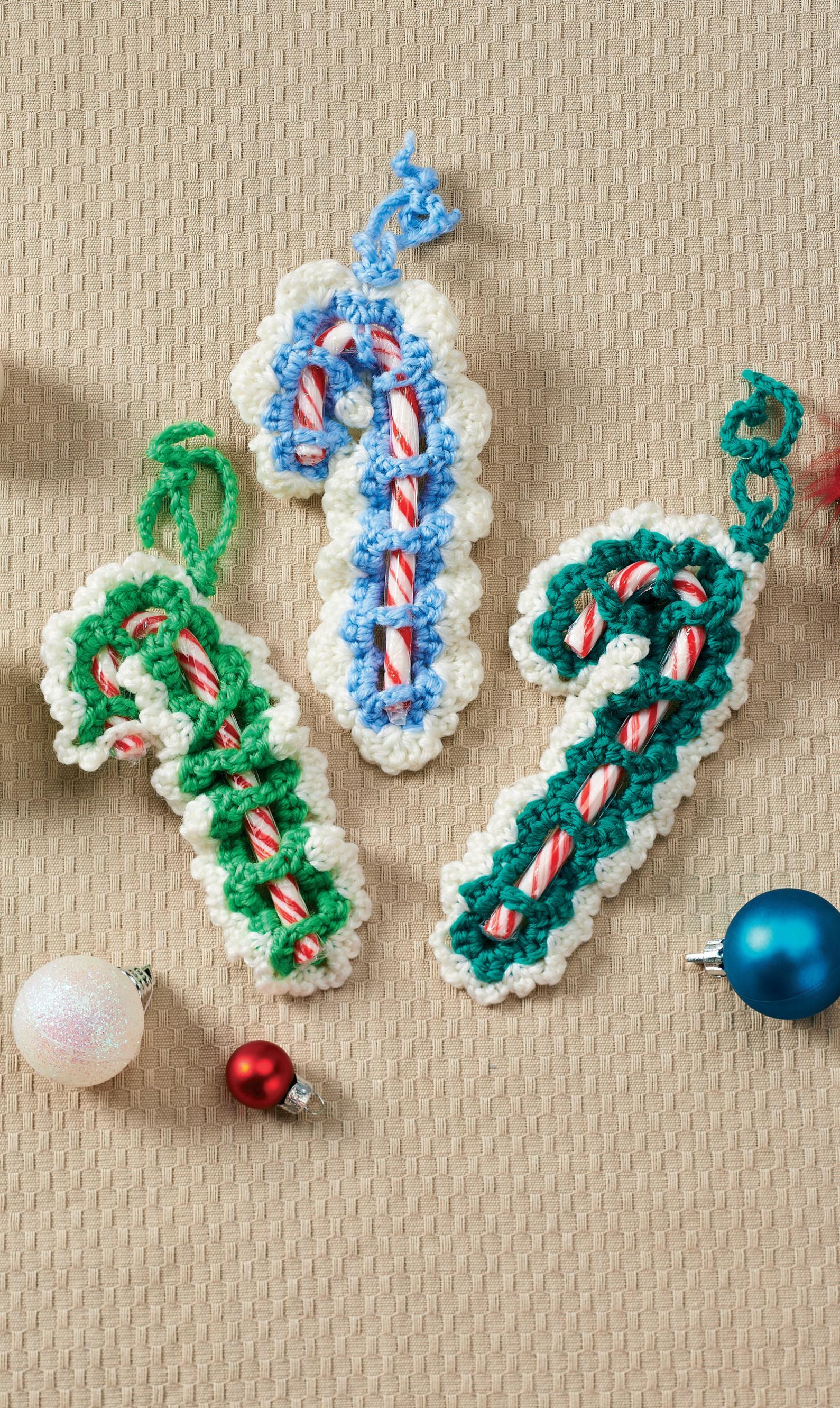 Crochet Candy Cane Decorations Crochet Pattern