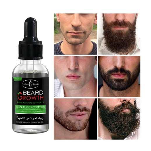 huile cheveux barbe beard growth