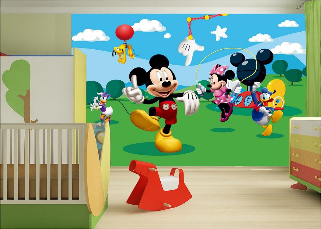 Kinderzimmer Fototapeten mit  Disney Micky Maus Tapeten