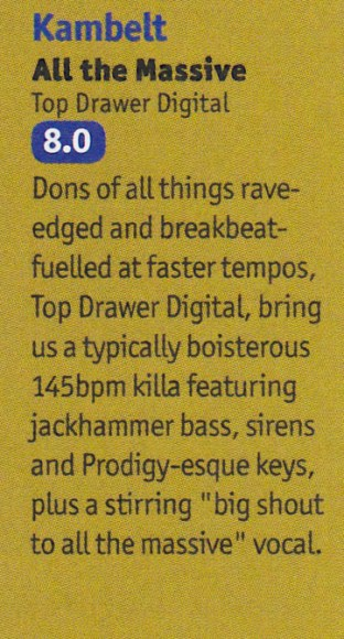 KamBelt – All The Massive 8/10 in DJ Mag